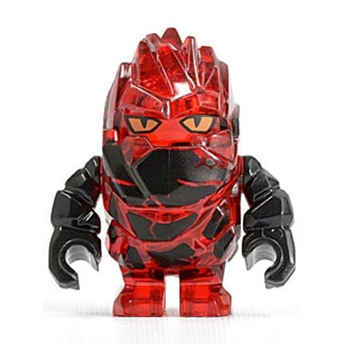 Rock Monster Infernox (Trans Red with Black Arms) - LEGO Power Miners Minifigure (USED)
