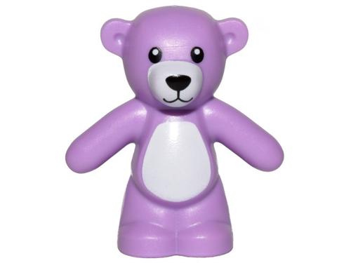 LEGO® Minifig Purple Teddy Bear - Boy/girl Friends Minifigure (very small)
