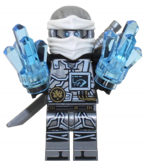 LEGO® Ninjago™ Zane - Hands of Time - with Grey Sword and Crystals