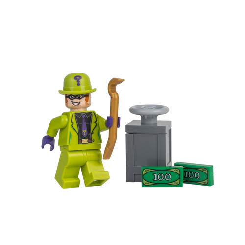 LEGO Superheroes: Riddler (Lime Green Suit) with Crowbar and Safe