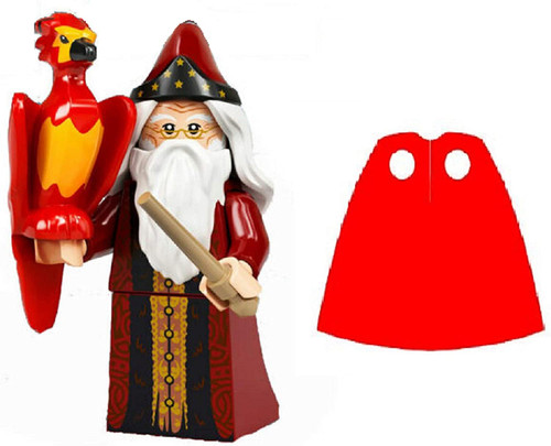 LEGO Harry Potter Series 2 Dumbledore with Extra Red Spongy Cape
