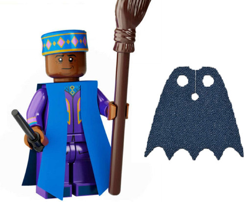 LEGO Harry Potter Series 2 Kingsley Shacklebolt with Broom and Extra Dark Blue Spongy Cape