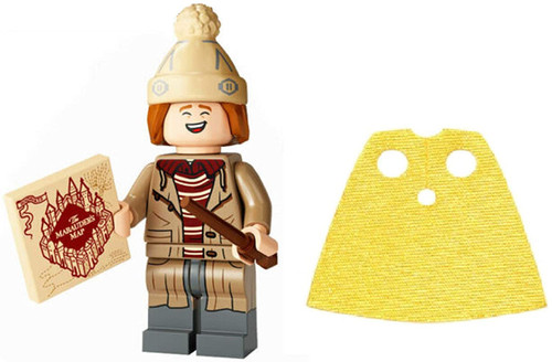LEGO Harry Potter Series 2 George Weasley with Marauder's Map and Extra Short Yellow Cape