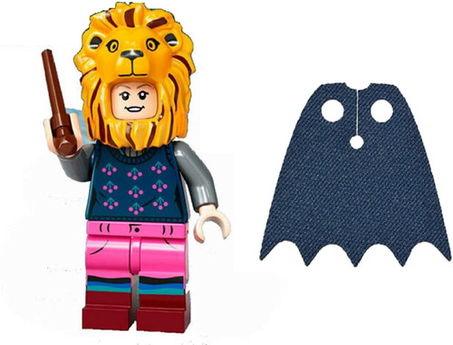 LEGO Harry Potter Series 2 Luna Lovegood with Lion Hat and Extra Blue Spongy Cape