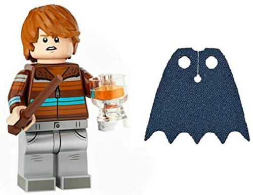 LEGO Harry Potter Series 2 Ron Weasley with Butterbeer and Extra Blue Spongy Cape