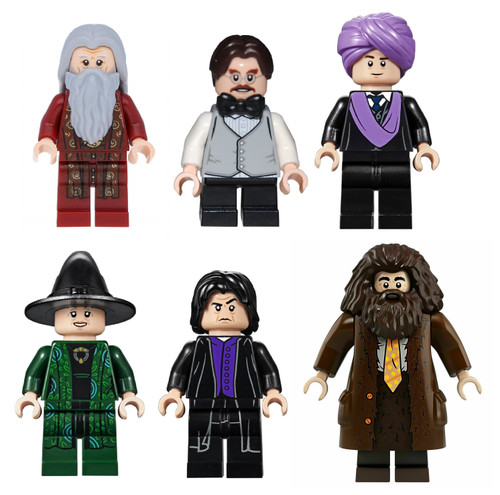 LEGO Harry Potter: Hogwarts Teacher Lot Dumbledore Hagrid Flitwick Snape