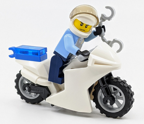 LEGO City:  Police Officer with Motorcycle