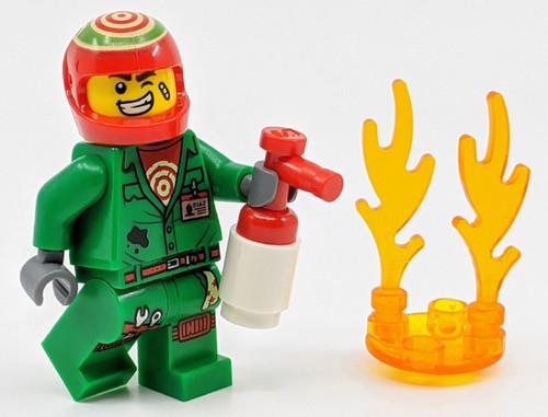 LEGO Hidden Side: El Fuego minifig with Fire Extinguisher