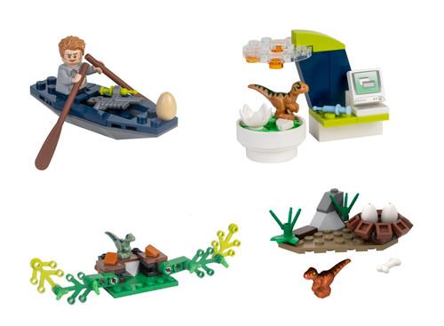 LEGO Jurassic World: 4 Mini Sets Owen Baby Raptor