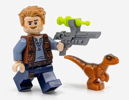 LEGO Jurassic World: Owen Grady with Baby Raptor and Tranquilizer Gun