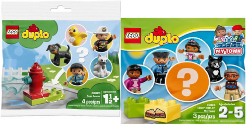 LEGO Duplo Mystery Pack Lot: My Town Mystery and Town Resue Mystery