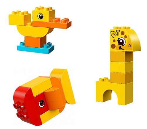 LEGO Duplo: My First Animal Lot: Duck Giraffe and Fish Animals