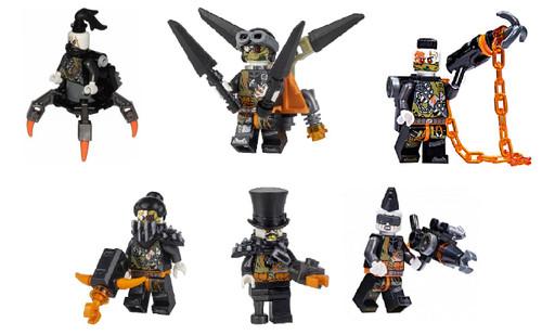 LEGO Ninjago: Army of 6 Dragon Hunters - Daddy No Legs Iron Baron Nitro Jet Jack Heavy Metal Talon