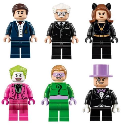 LEGO Superheroes: Classic Batman Set: Riddler Catwoman Bruce Wayne Alfred Penguin Joker