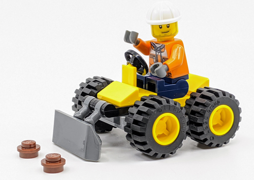 LEGO City: Construction Worker and Bulldozer (BulldozerFoil952003)