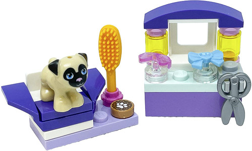 LEGO Friends Accessory Set: Dog Hairdresser Salon with Toffee (26 pcs) (DogHairSolonFoil561808)