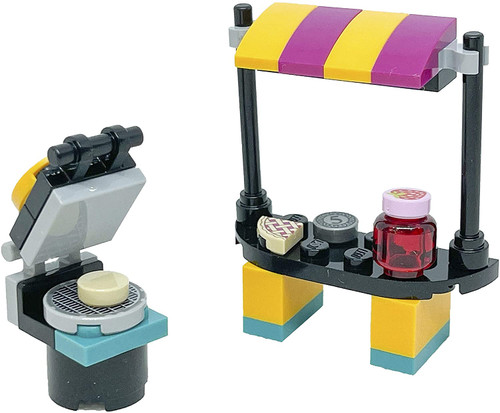 LEGO Friends Accessory Set: Andrea's Booth with Waffles (29 Pcs) (WaffleBoothFoil561905)