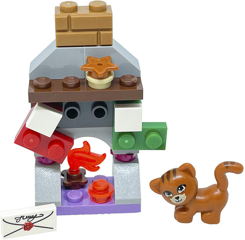 LEGO Friends Accessory Set: Christmas Fireplace (23 pcs) (FireplaceFoil561612)