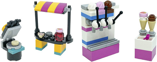 LEGO Friends Accessory Sets: Ice Cream Parlor and Waffle Booth (Foil561907Foil561905)