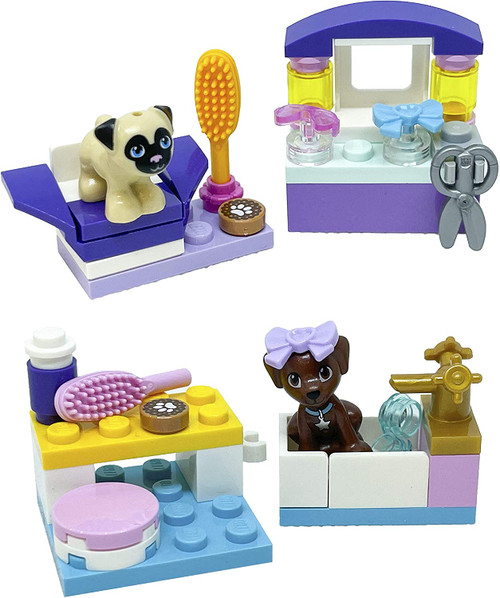LEGO Friends Accessory Sets: Puppy Dash and Dog Hairdresser Salon with Toffee (Foil561808Foil561909)