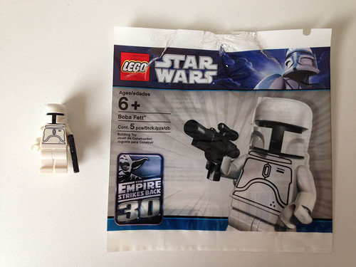 LEGO Star Wars White Boba Fett Minifigure -SEALED- 30th Anniversary Limited E (BobaPolybagSPECIAL)
