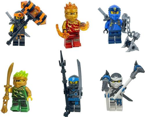 LEGO LEGO Ninjago Forbidden Spinjitzu Combo Pack with weapons - Lloyd Zane Jay Nya Cole Kai