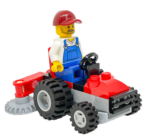LEGO City: Gardener on Lawn Tractor - Landscaper (CityLawnFoil951903)