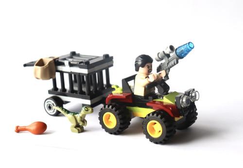 Lego Jurassic Park: Baby Dino Transport with Vic Hoskins Patrol (DinoTransFoilVicHoskFoil)