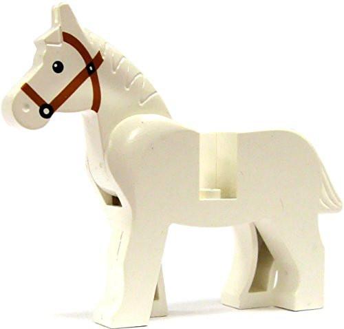 LEGO Horse (White) - Animal Minifigure - USED