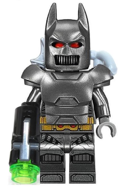 LEGO DC Superheroes: Grey Batman with Armor, Cape, Batarang, Grappling Hook and Kryptonite Gun