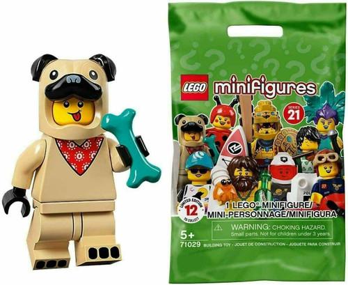 Lego 71029 Collectable Minifigures Series 21 - Pug Costume Guy (Series21PugCostume)