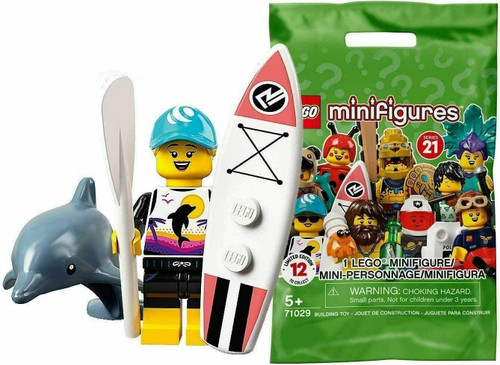 Lego 71029 Collectable Minifigures Series 21 - Paddle Surfer (Series21PaddleSurfer)