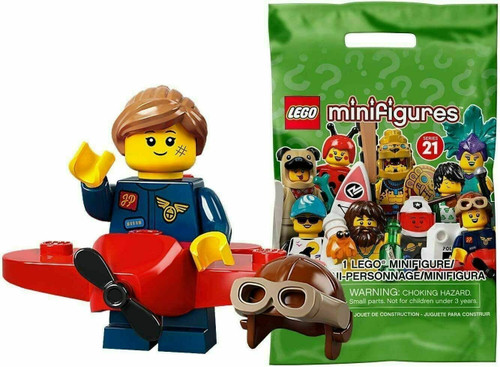 Lego 71029 Collectable Minifigures Series 21 - Airplane Girl (Series21AirplaneGirl)