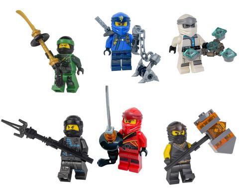 LEGO Ninjago Legacy Combo 6 Ninja Pack (with weapons) - Lloyd Zane Jay Nya Cole Kai