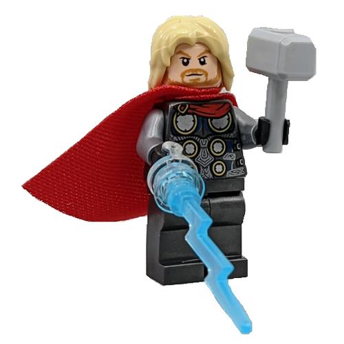 LEGO Superheroes - Thor minifig  with Mjölnir and Lightning