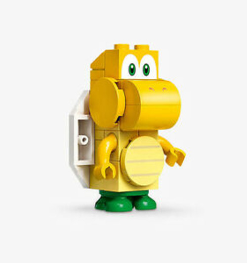 LEGO Super Mario Koopa Troopa - Scanner Code with Yellow Lines