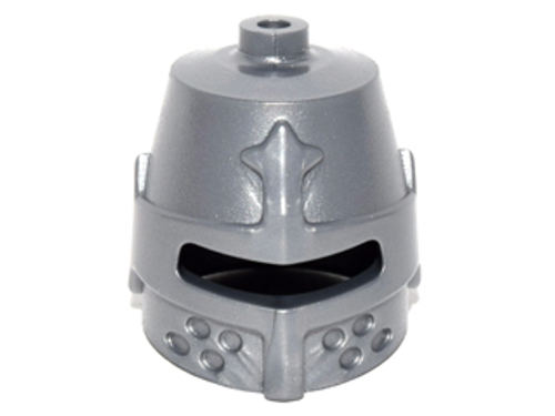 LEGO® Accessory - Silver Knight's Helmet - for Minfigures