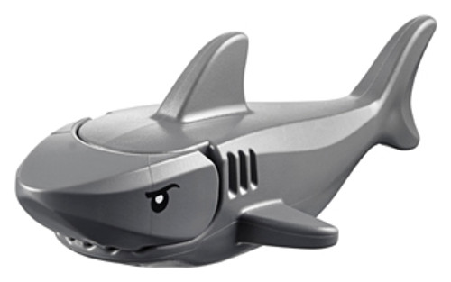 LEGO® City - Shark with Gills with Black Eyes and White Pupils Pattern