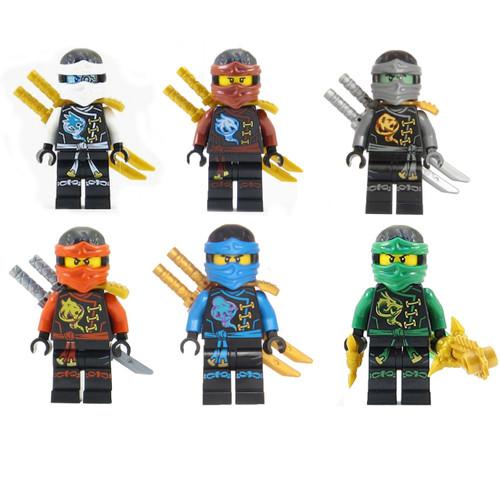 LEGO® Ninjago™ Ninja's set of 6 - Lloyd, Nya, Zane, Cole, Jay, Kai Skybound