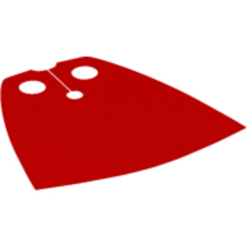 LEGO® Red Cape (newer spongy version) - LEGO figure accessory