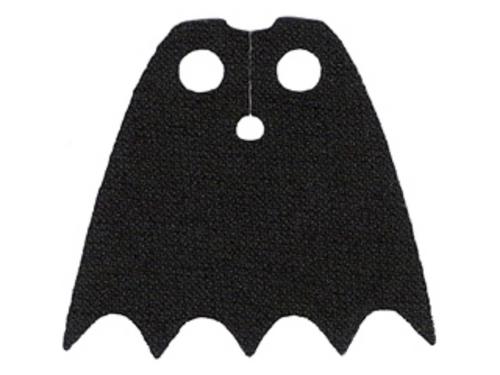 LEGO® Black Batman Cape - New Spongy Fabric - LEGO figure accessory