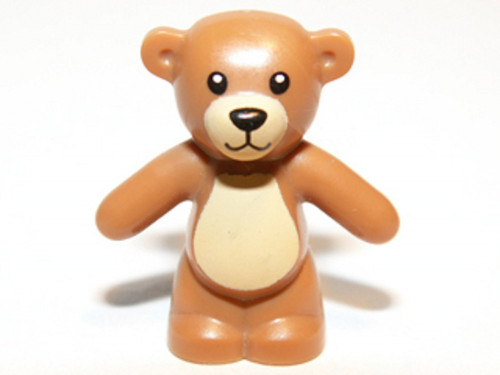 LEGO® Minifig Light Brown Teddy Bear - Boy/girl Friends Minifigure (very small)