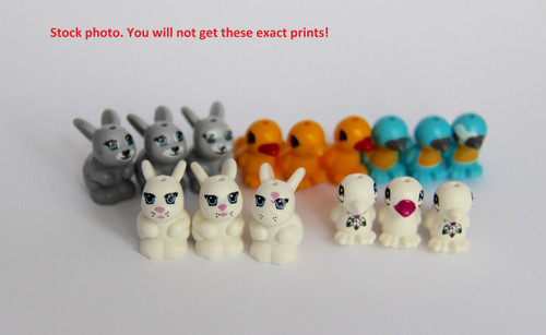 LEGO Friends™ Animal Lot - Print Defects - Lot of 15 animals