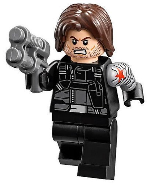 LEGO® Marvel Super Heroes Civil War Minifigure - Winter Soldier with Blaster Gun (76051)