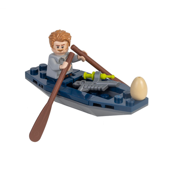 LEGO Jurassic World: Owen with Kayak and Raptor Egg