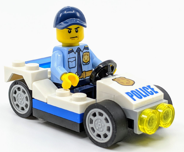LEGO City:  Police Man with  Buggy and Handcuffs