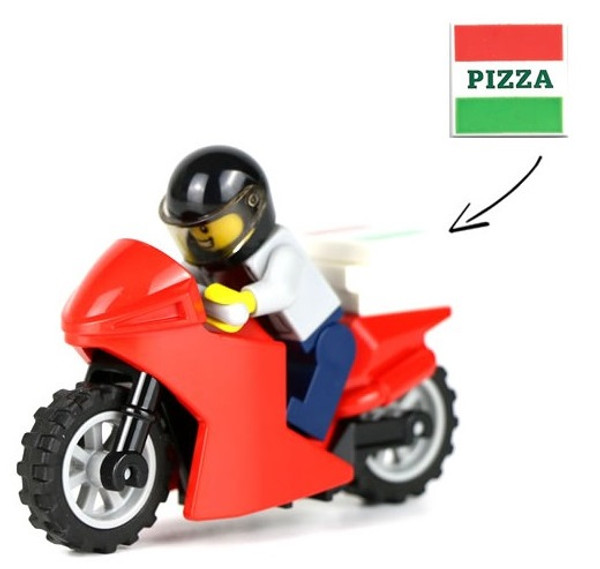 LEGO City: Pizza Delivery Man with Motorcycle
