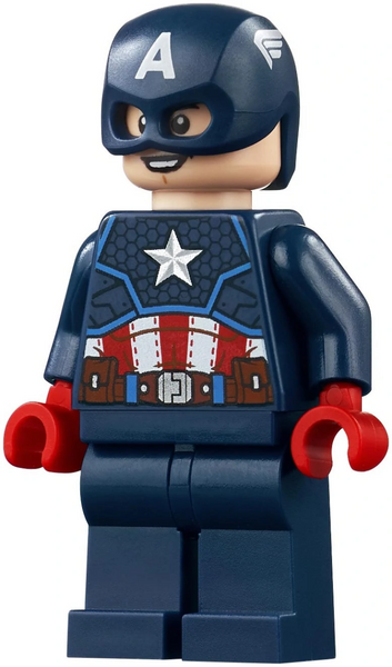LEGO Superheroes - Captain America minifig  with Shield and Hair