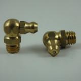 M8 x 1.25mm Brass 90° Metric Grease Zerk Fitting 1 Pc