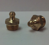 1/4-19 BSP Straight Brass Grease Zerk Fitting 1 Pc